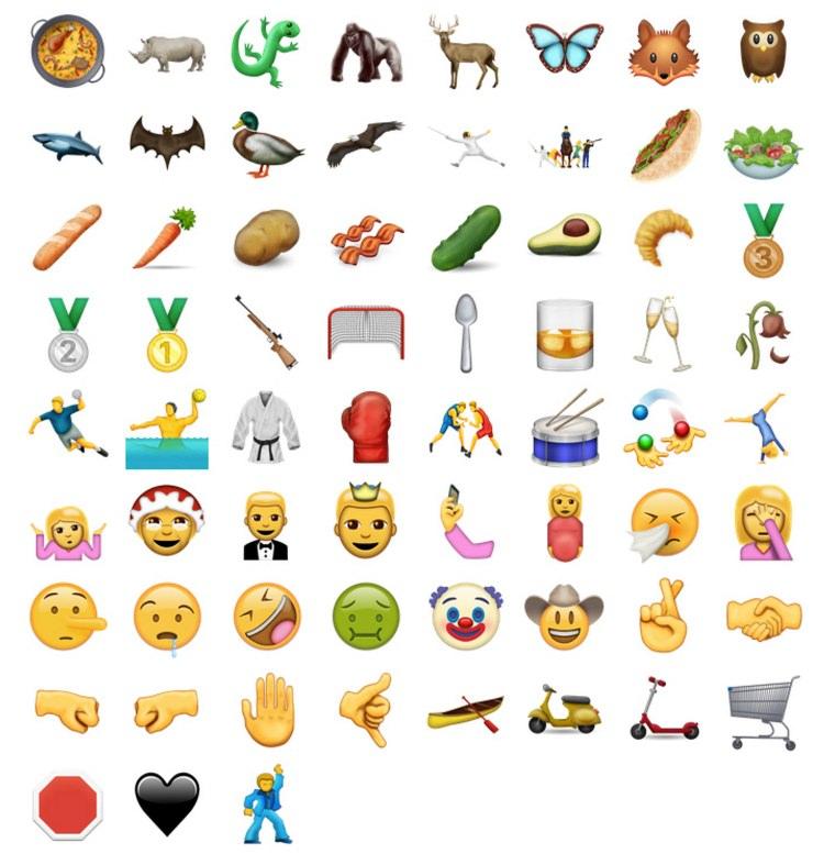72 Emoticonos nuevos de iOS