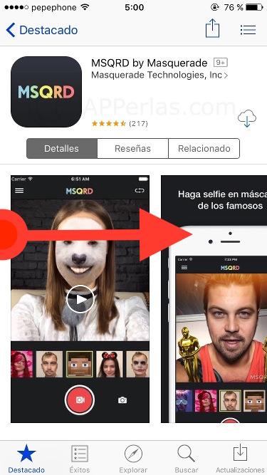 Gesto táctil iPhone
