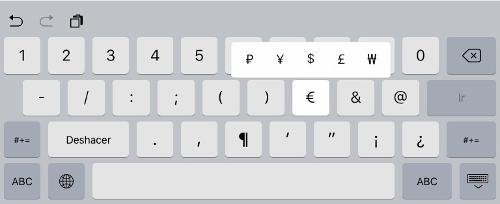 teclado de iOS 9 2