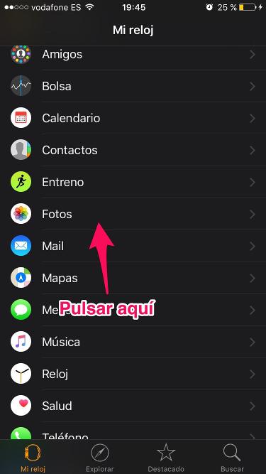 fotos del iPhone con el Apple Watch 1