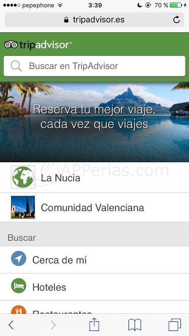 Tripadvisor web app