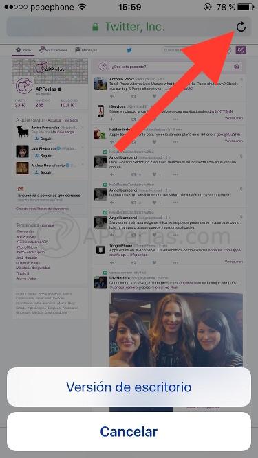 Activar nuevo Timeline iPhone iPad