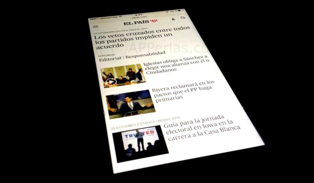 Web apps El País
