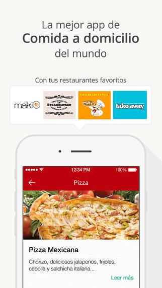 app de comida y bebida La nevera roja