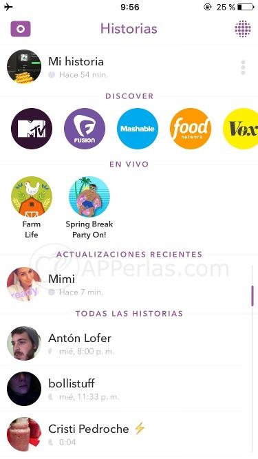 Guía de Snapchat 3