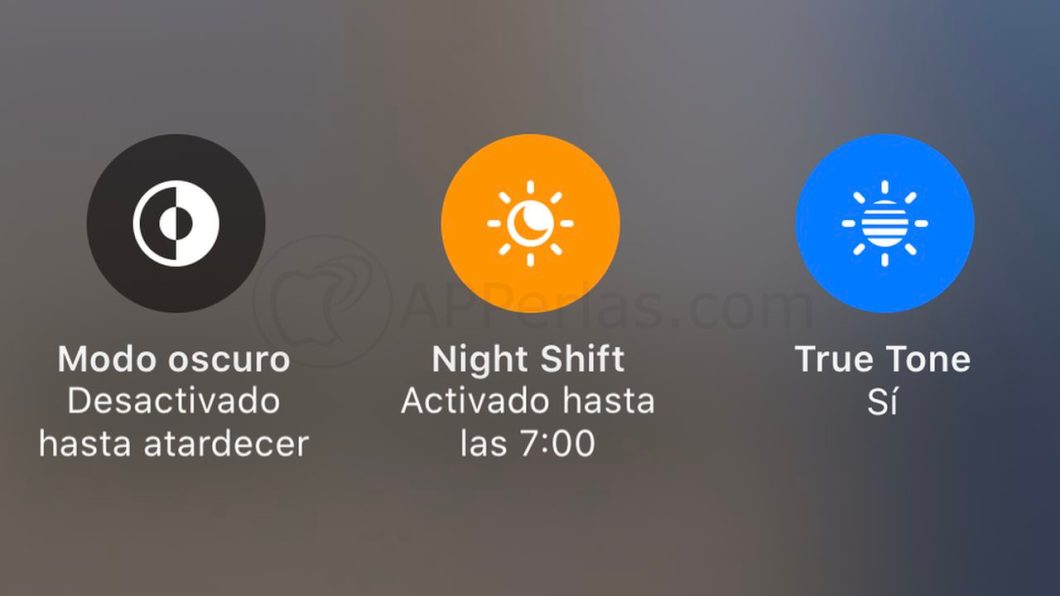 Función Night Shift de iOS