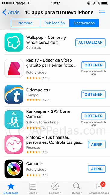 Apps nuevo iphone 3