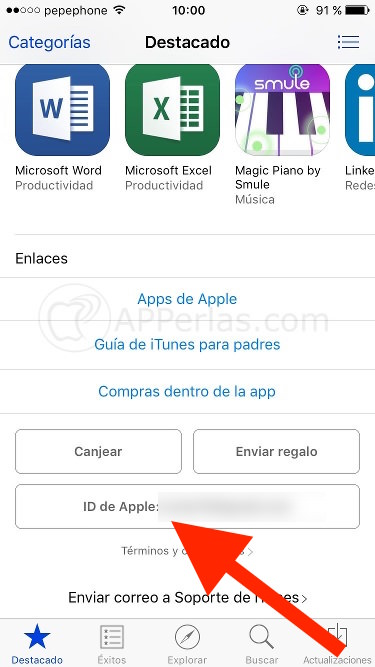 Opiniones sobre apps en App Store
