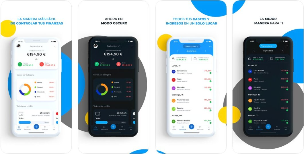 Control what you spend and what you deposit with the Mobills app
