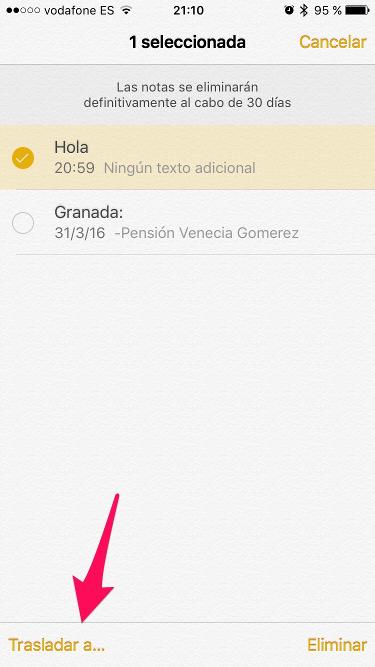 notas eliminadas en el iPhone 2