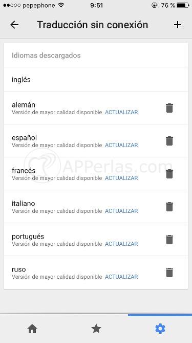 Traducir sin conexión iPhone