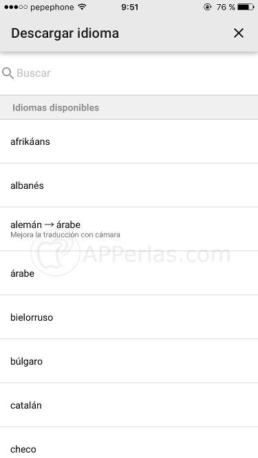 App traducir sin conexión
