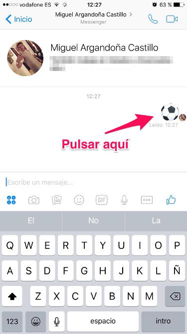 fútbol desde Facebook Messenger 1