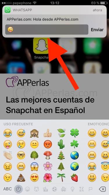 Notificaciones de iOS 10 tipo tiras