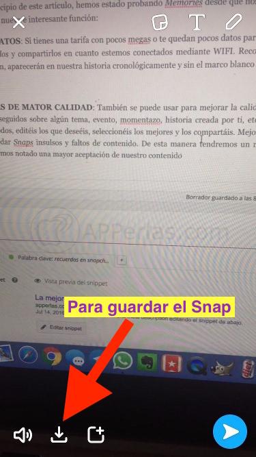 Recuerdos en Snapchat 1