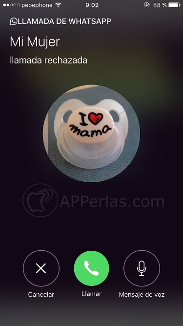 Whatsapp 2.16.8 novedad en llamadas