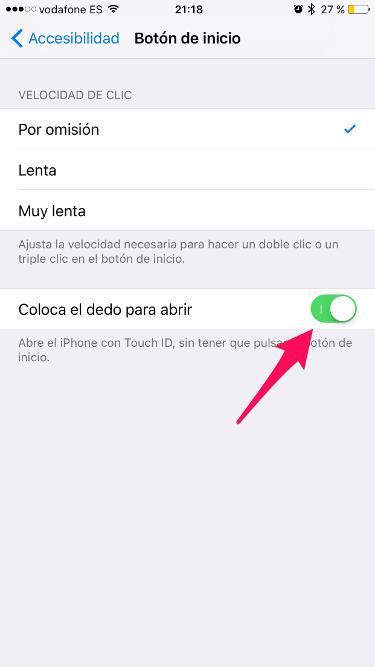 botón Home en iOS 10 2
