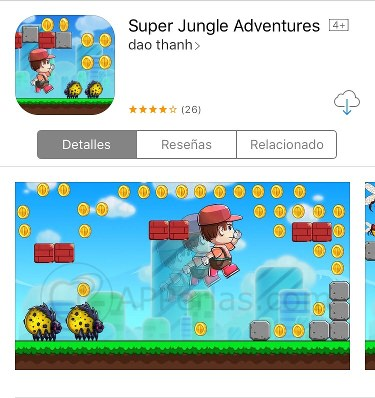 Super Jungle Adventures imita a Mario Bros en iPhone