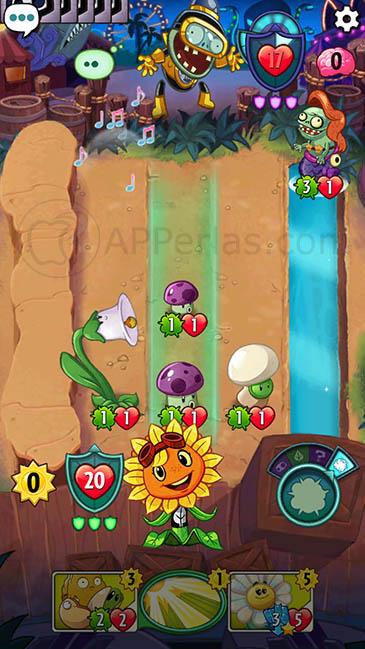Plants vs Zombies Heroes juegos adictivos para iPhone