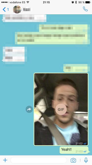 live photos por WhatsApp, convertidos en GIF