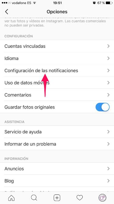 Turn off Instagram live video alerts