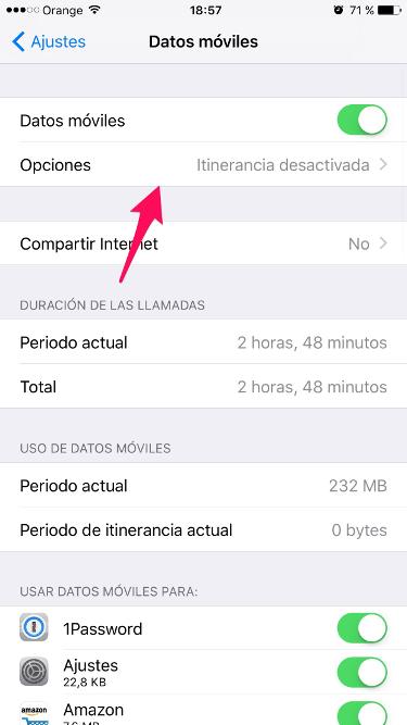 4G en el iPhone 1