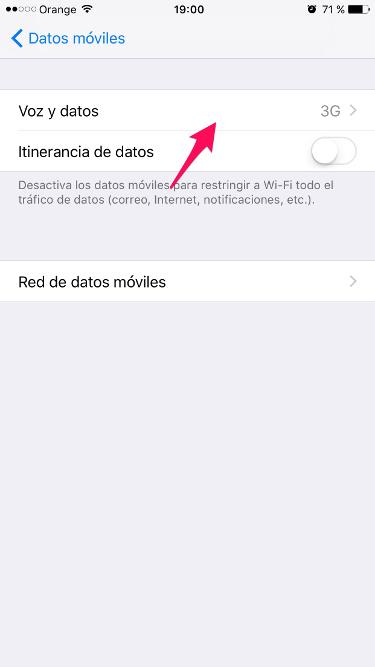 4G en el iPhone 2