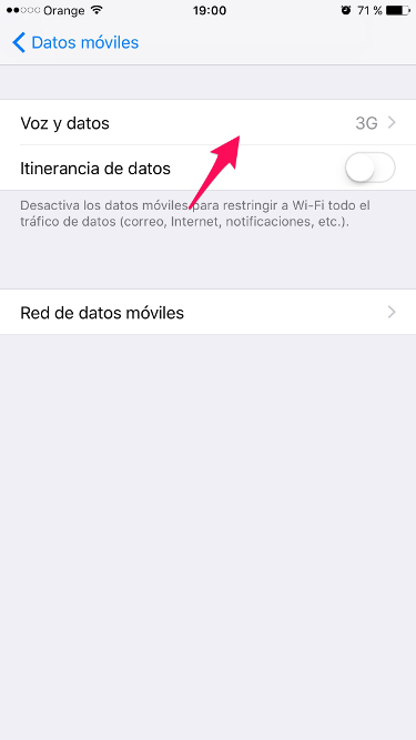 4G en el iPhone 2