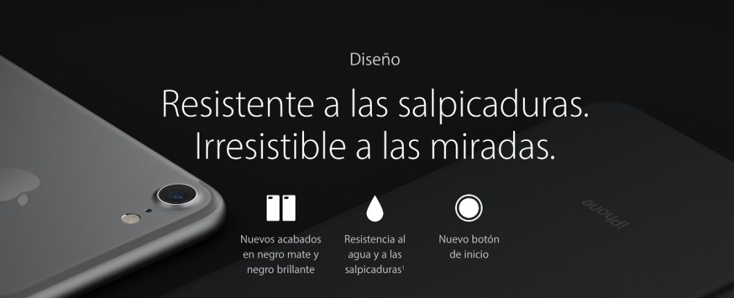 Resistencia al agua del iphone 7