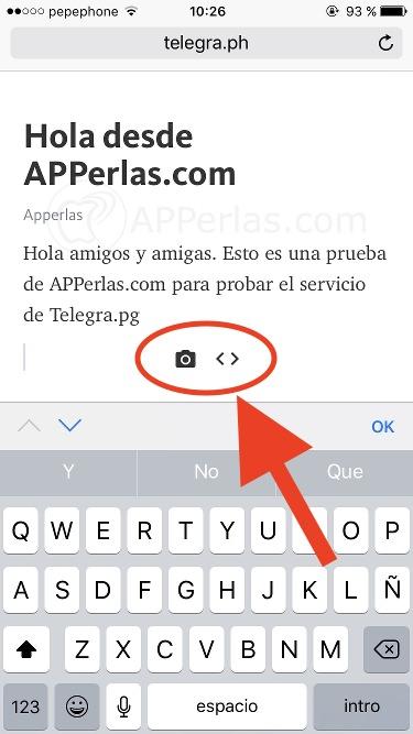 Cómo escribir artículos en Telegra.ph