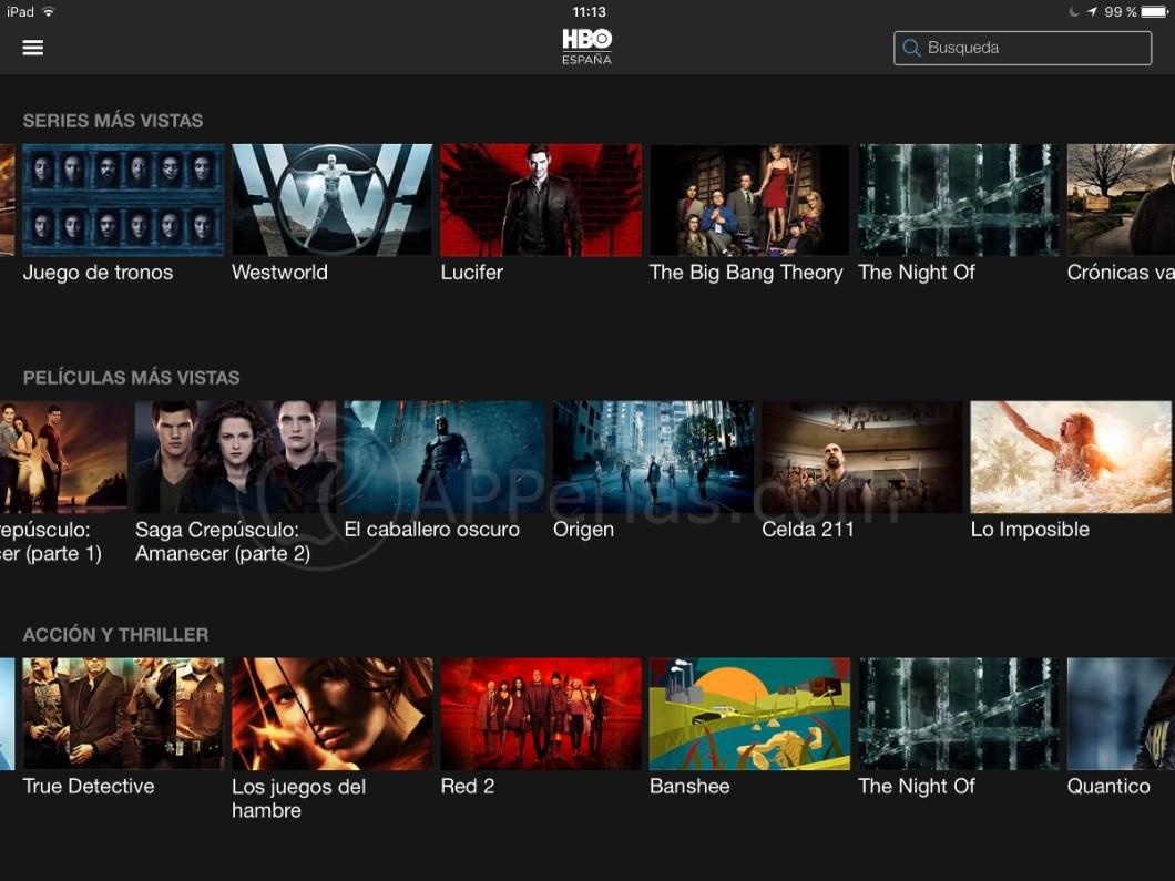 HBO para iPad