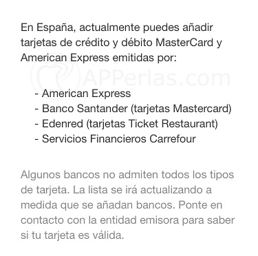 Apple PAY entidades