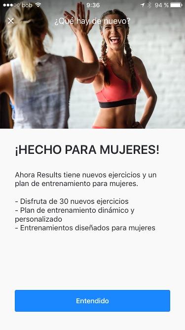 Runtastic Results entrenamiento para mujeres