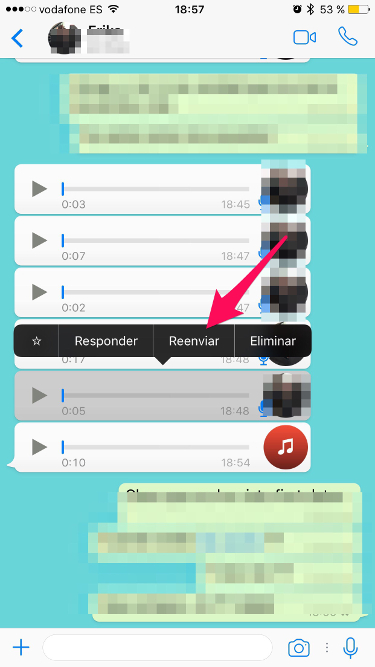 audios de WhatsApp en el iPhone 1