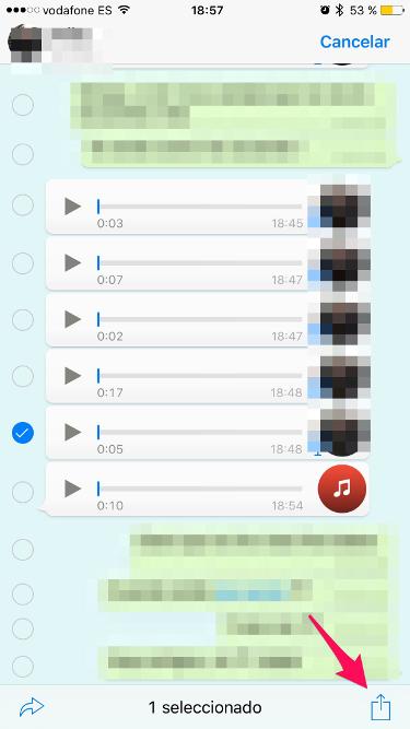 audios de WhatsApp en el iPhone 2
