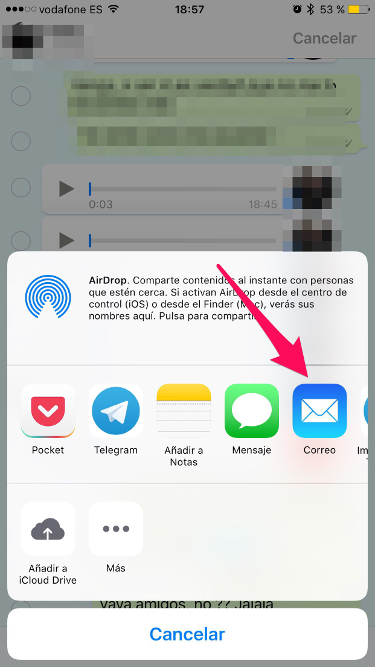 audios de WhatsApp en el iPhone 3