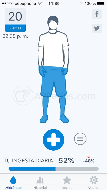 Waterminder app hidratación
