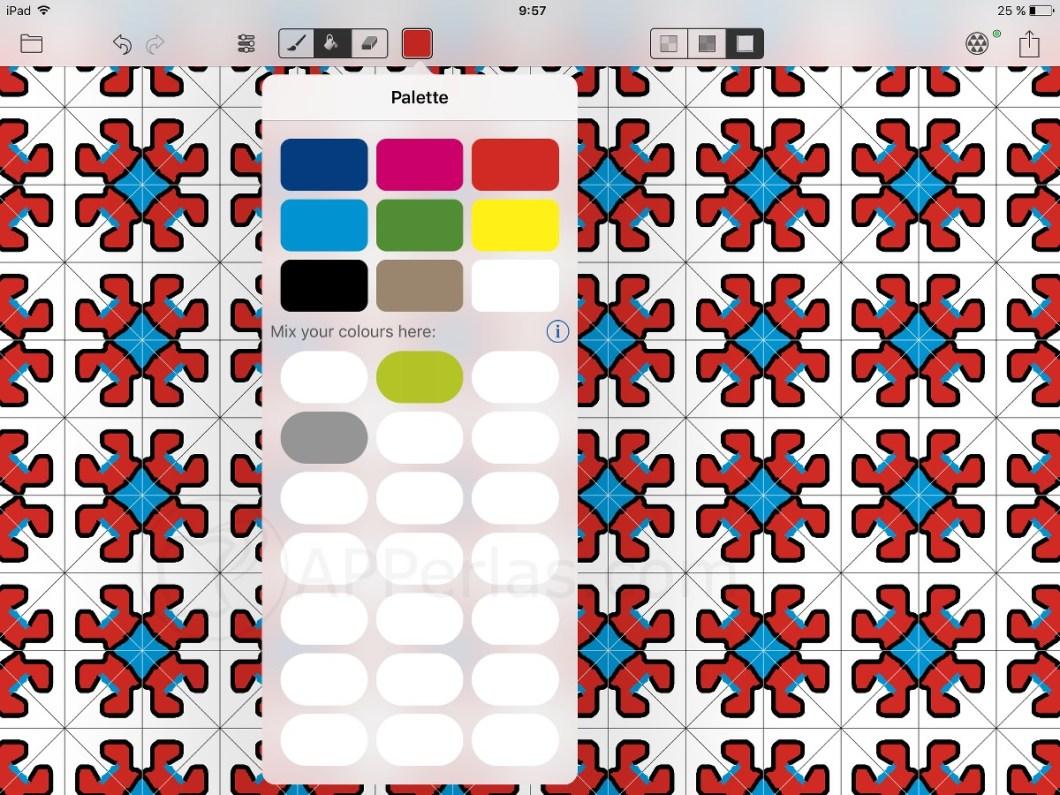 Colorea en amaziograph app de dibujo par iPad