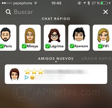 Actualización de Snapchat y bitmoji