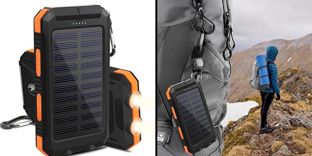 Accesorios para aventureros cargador solar