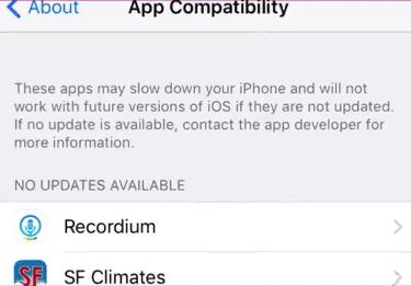 iOS 10.3 compatibilidad de aplicaciones