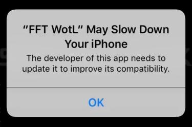 Aviso de app de 32 bits