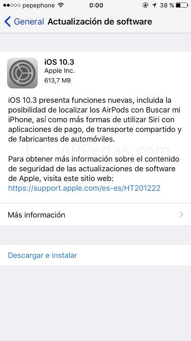 Todas las novedades de iOS 10.3