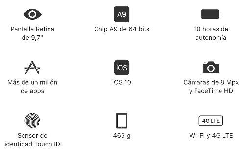 Características iPad 2017
