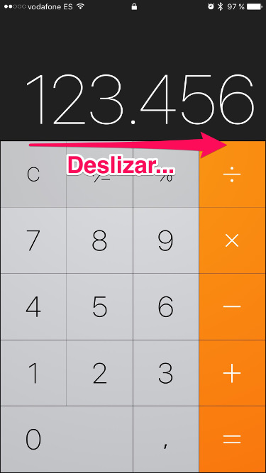 calculadora del iPhone 1