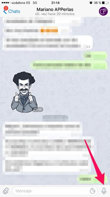 videomensajes desde Telegram 1
