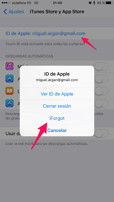 recuperar la ID de Apple 1