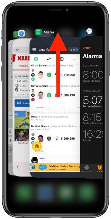 Cerrar apps en el iPhone