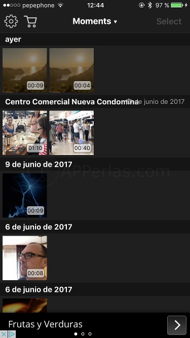 Interfaz de Video Rotate App