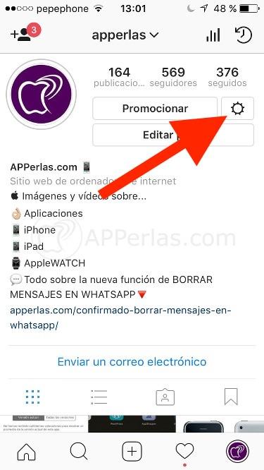 Acceso a estadísticas de instagram